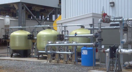 industrial watersoftener and feedwater system